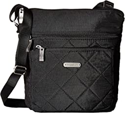 Baggallini - Quilted Pocket Crossbody with RFID Wristlet
