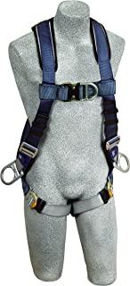 3M DBI-SALA ExoFit 1108601 Vest Style Harness, Front, Back and Side D-Rings, Loops For Belt, Quick-Connect Buckles, Medium, Blue/Gray