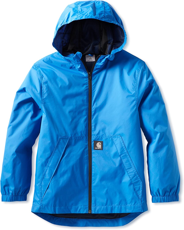 Carhartt Big Boys' Packable Hooded Rain Jacket