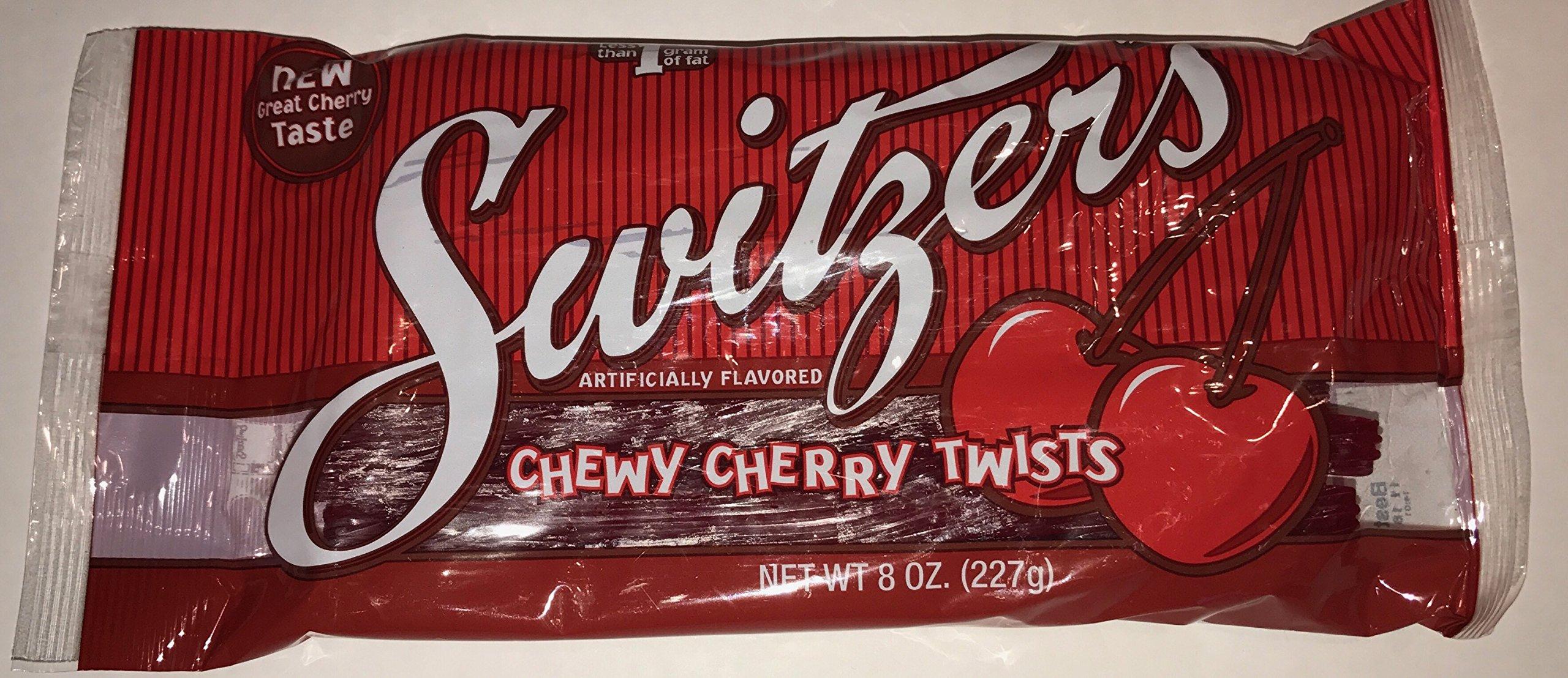 Original switzers Chewy Cherry Regaliz Giros (aprox. 24piezas en una bolsa)