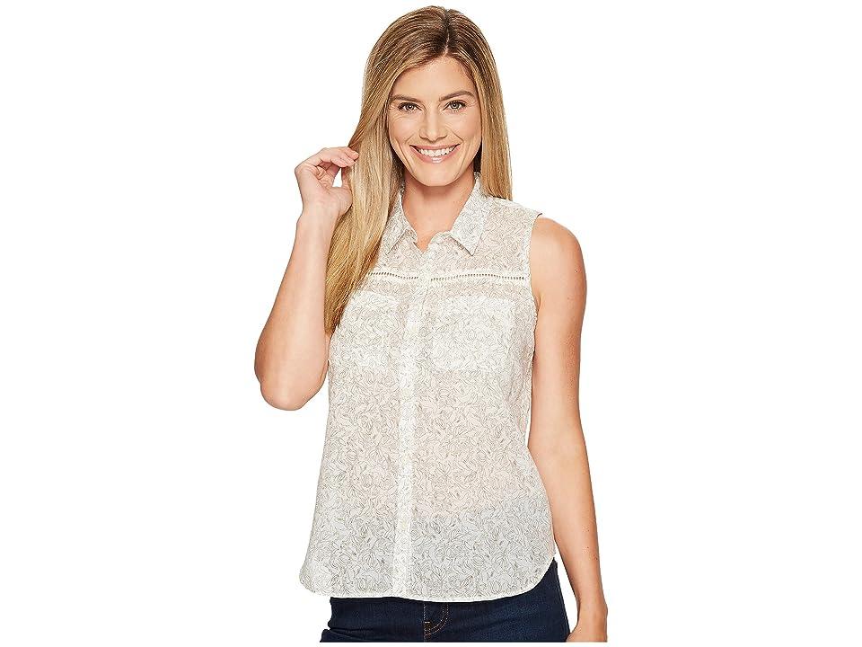 Toad&Co Airbrush Sleeveless Deco Shirt (Egret Galapagos Print) Women