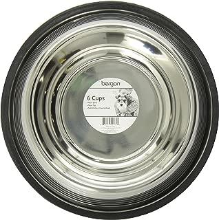 Bergan Stainless Steel Non-Skid/Non-Tip Pet Bowl with Ridges