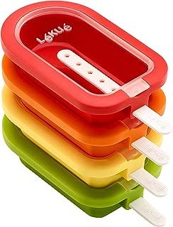 Lekue 3400221S01U150 Stackable 4 Pieces Popsicle Mould, One Size, Multicolour