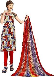 Minu salwar Cotton Printed Suit sets Multicolor(Rayonbeauty4_4004)
