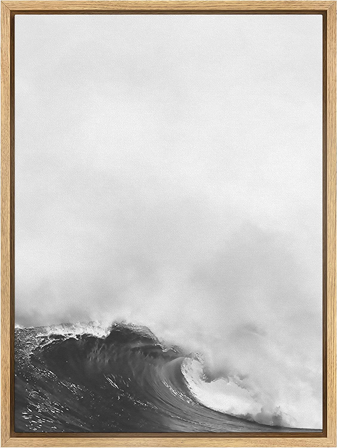 SIGNWIN Many popular brands Framed Canvas Print Wall Art Dramatic in Waves Ocean Phoenix Mall The