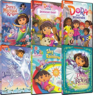 Dora Explorer 6-Pack Collection #3 (Dora's Rescue in Mermaid Kingdom / Dora: Doggie Day! / Dora Friends / Dora: Saves Snow Princess / Dora: Shy Rainbow / Dora's Royal Rescue)