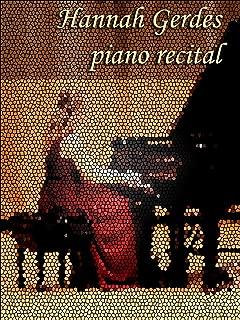 Hannah Gerdes piano recital