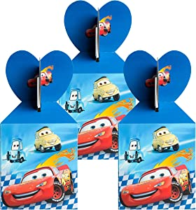 18Pcs Race Car Party Favor Goodie Boxes Lighting McQueen Car Candy Treat Boxes Party Supplies Snack Chocolate Cookie Container Happy Birthday Rewards Bag Baby Shower Themed Party Favors for Boys