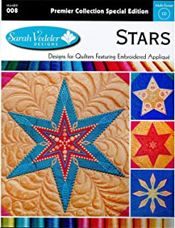 Sarah Vedeler Designs Special Edition Stars Embroidered Applique CD