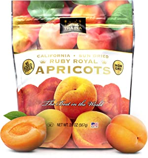 Traina Home Grown California Sun Dried Fancy Ruby Royal Apricots - No Sugar Added, Non GMO, Gluten Free, Kosher Certified,...