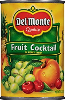 (Pack of 12) Del Monte Canned Fruit Cocktail in Heavy Syrup, 12x15.25oz Cans