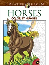 Creative Haven Horses Color by Number Coloring Book (Creative Haven Coloring Books)