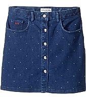 Embellished Denim Mini Skirt (Big Kids)