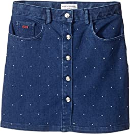 Embellished Denim Mini Skirt (Big Kids)