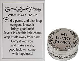 Good Luck Penny Wish Box Charm with Story Card