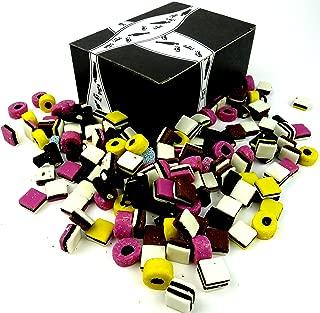 Cuckoo Luckoo Licorice Allsorts, 2 lb Bag in a BlackTie Box