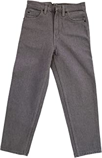 Wofupowga Boy Easy Fit Straight Fit Stretch Solid Pull On Elastic Waist Pants