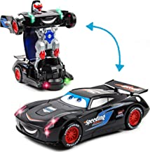 Toytykes Deformation Racing Car Comes with Light and Music Simple to Operate Enhance Child's Curiosity Endless Fun for Kids Recommended Age for 3+
