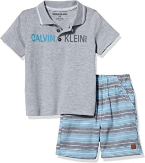 CALVIN KLEIN Baby Boys' 2 Pieces Polo Shorts Set