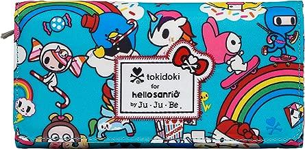 JuJuBe Be Rich Tri-Fold Wallet with Snap Enclosure, Tokidoki Collection - Rainbow Dreams
