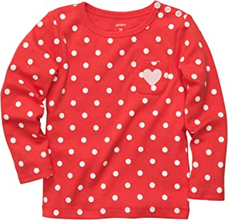 Youth Carters Baby Girls Dot Heart Top Coral White