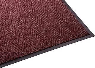 Guardian Golden Series Chevron Indoor Wiper Floor Mat, Vinyl/Polypropylene, 3'x6', Red