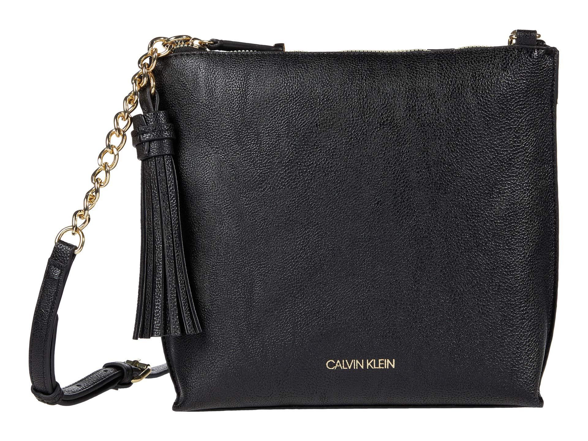 Calvin Klein Calvin Klein Novelty North/South Top Zip Tassel Crossbody