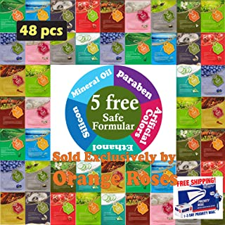 {Entel} 48 Pcs Combo-Pack, Premium Korean Essence Facial Mask Sheet (12 Types x 4 pcs), Five Chemical Free : No Paraben, N...