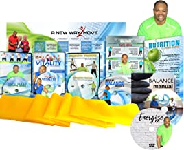 Premium, Senior Exercise DVD System- 5 DVDs + Resistance Band + Balance Exercises + Nutrition Guide + Bonus Gift! All Exer...