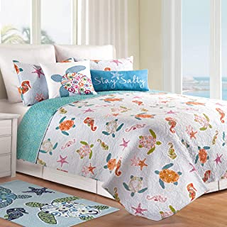 C&F Home, St. Kitts 3Pc Full/Queen Quilt Set, Reversible 92x90 Inch with 2 Standard Shams
