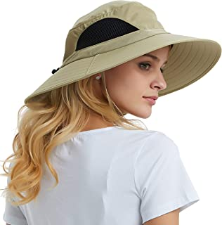 EINSKEY Sun Hat for Men/Women, Summer Outdoor Sun Protection Wide Brim Bucket Hat Waterproof Breathable Packable Boonie Hat for Safari Fishing Hiking Beach Golf