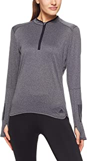 adidas Women's CZ5088 Response Long Sleeve Zip Long Sleeve Shirt
