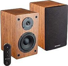 Knox Gear LP1 Powered Bookshelf Speaker with Bluetooth -30 Watt x 2-2.0 Stereo Studio Monitor Speaker with Wood Finish - 4...
