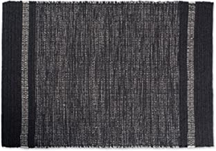 DII Variegated Gray Recycled Yarn 2x3 FT Rug, Varigated