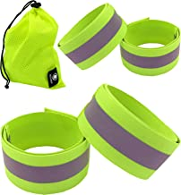 Pair of ETC Hi Viz Reflective Ankle Running Trouser Clips Arm Bands Cycle