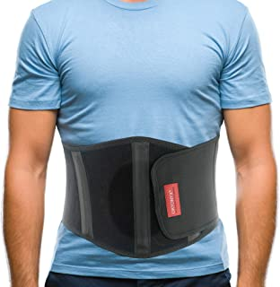 ORTONYX Ergonomic Umbilical Hernia Belt for Women and Men - Abdominal Support Binder with Compression Pad - Navel Ventral Epigastric Incisional and Belly Button Hernias Surgery Brace - OX353-S/M