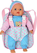 "13"" Soft Baby Doll with Take Along Pink Doll Backpack Carrier, Briefcase Pocket Fits.."