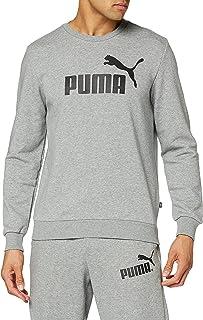 PUMA Men's Ess Logo Crew Tr Big Logo Sweatshirt