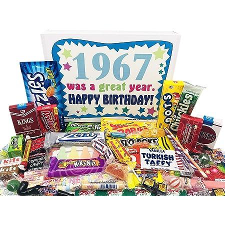 Caja De Dulces De La Infancia Regalo De Cumpleaños Para Mujeres Y Hombres De 50 Años Nacidos En 1967 Grocery Gourmet Food