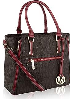 Mia K Collection Crossbody Shoulder Handbag for Women, PU Leather Pocketbook Top-Handle Purse Tote-Satchel Bag