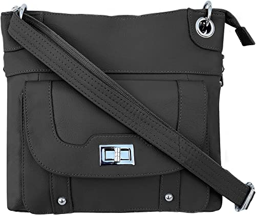 Roma Leathers Women's Concealed Carry Purse - Premium Cowhide Leather Cross Body Handbag
