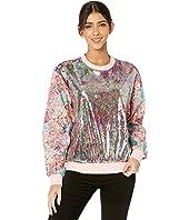 Floral Sequin/Floral Jacquard Sweatshirt