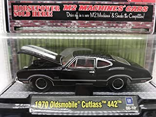 M2 Machines Detroit Muscle 1970 Oldsmobile Cutlass 442 1/64 08-10 Black Details Like NO Other! Over 42 Parts