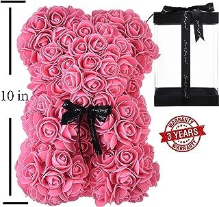faux roses teddy bear