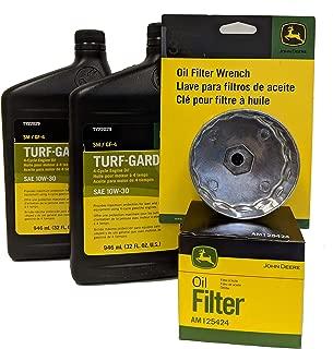 John Deere Original Equipment Oil Change Kit Including Wrench (2) TY22029 + AM125424 +TY26640