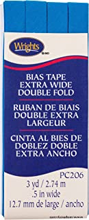 Wrights Teal Double Fold Bias Tape 1/2