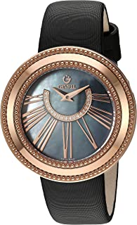 Women's Fifth Avenue Stainless Steel Swiss Quartz Watch with Satin Strap, Black, 17 (Model: 3345.1)