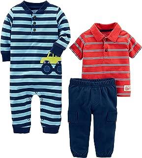 Baby Boys' 3-Piece Playwear Set-Cotton Jumpsuit, Pants,...