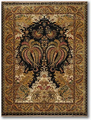 Samad 6 4 X9 3 Black Gold Beige Aqua Rust Red Brown Multi Color Hand Knotted Oriental Pile Area Rug Wool Modern Traditional Quality Design Oriental Rug Amazon Co Uk Kitchen Home