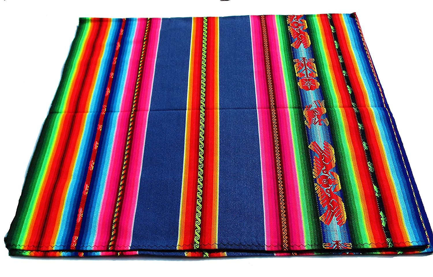 Blue 安い pink Aguayo Colorful Tablecloth South Inka American 即納送料無料 Peruv